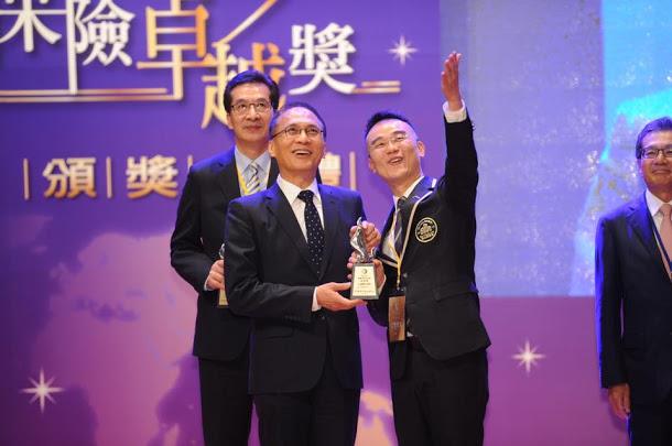 行政院長林全今(30)日出席「第七屆台灣保險卓越獎頒獎典禮」。